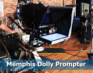 Memphis Dolly Prompter on set