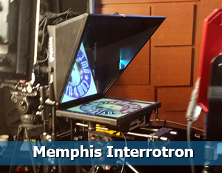 Memphis Interrotron on set