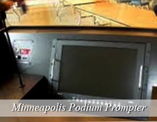 Podium Prompter on Podium