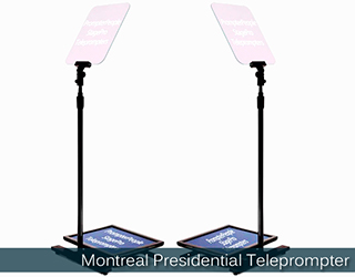 Presidential Teleprompter - (screens reflect text) - Montreal