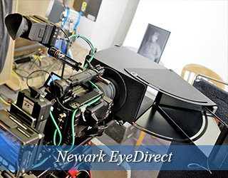 EyeDirect unit setup on set - Newark