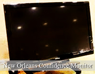 New Orleans Confidence Monitor unit - blank screen