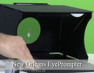 New Orleans EyePrompter unit - green background.