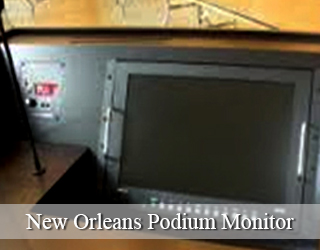 New Orleans Podium Monitor (unit on podium itself)