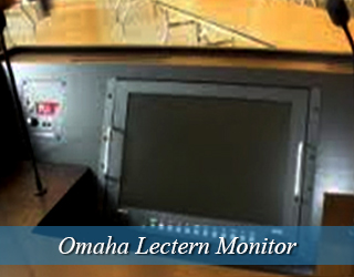 Lectern Monitor unit on the podium hidden from view - Omaha
