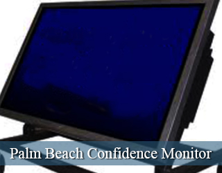Confidence Monitor - empty screen - Palm Beach