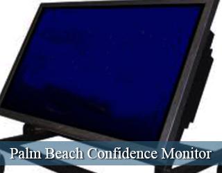 Confidence Monitor - empty screen - Palm Beach