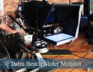 Jib Slider Teleprompter on set - Palm Beach