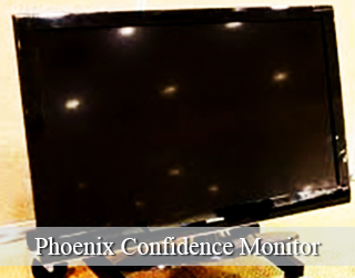 Confidence Monitor - lights reflected on its screen - Phoenix