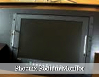 Podium Monitor hidden on podium - Phoenix