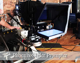 Slider Prompter setup on set - Phoenix