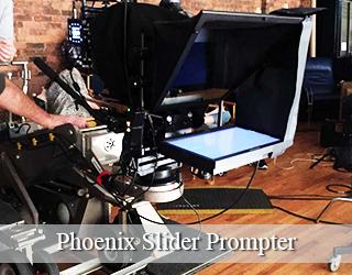 Slider Prompter setup on set - Phoenix