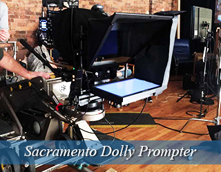 Dolly Prompter on set - Sacramento