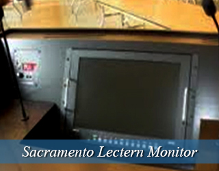 Lectern Monitor - on podium - Sacramento