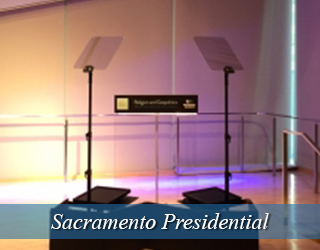 Presidential Teleprompter and Podium - Sacramento