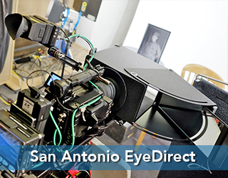 EyeDirect Mark II device on set - San Antonio