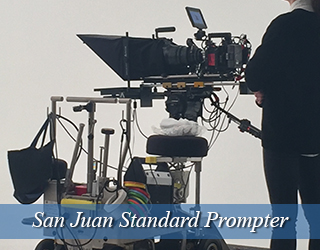 Standard Prompter - operator in black to the right