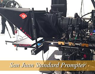 Standard Prompter on set - San Juan