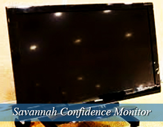 Confidence Monitor - light reflected on screen - Savannah