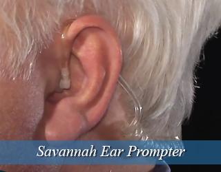 Close up of man's ear - Ear Prompter - Savannah