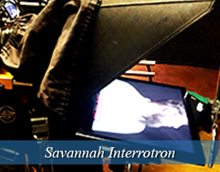Interrotron on set - Savannah