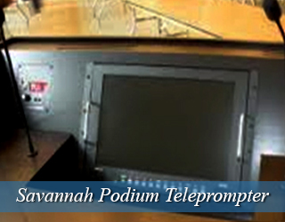 Podium Teleprompter setup - Savannah