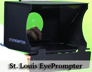 EyePrompter- green background = St. Louis