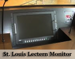 Lectern Monitor on Podium