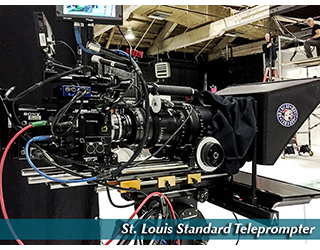 Standard Teleprompter setup - St. Louis
