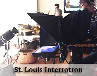 Interrotron on set - operators in the back - St. Louis