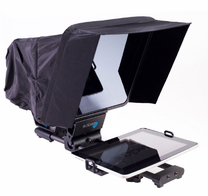 MagiCue IPad Prompter with iPad no tripod . black