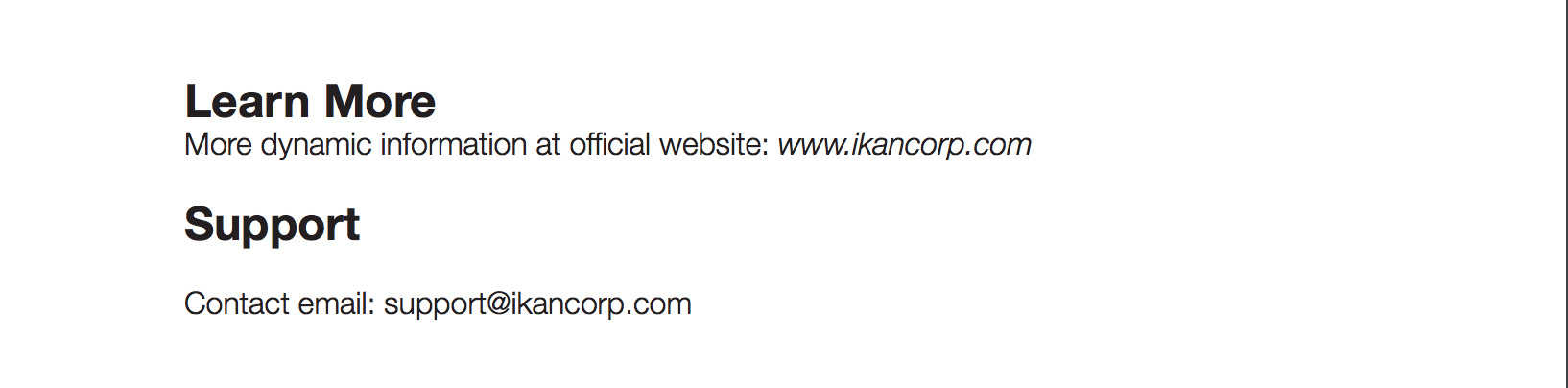 iKan Contact Details