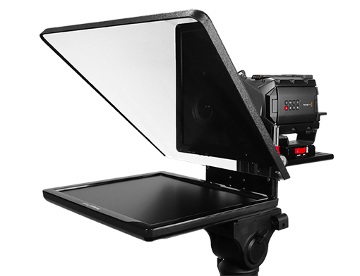 Prompter People Teleprompter with Sony FS7 camera on tripod