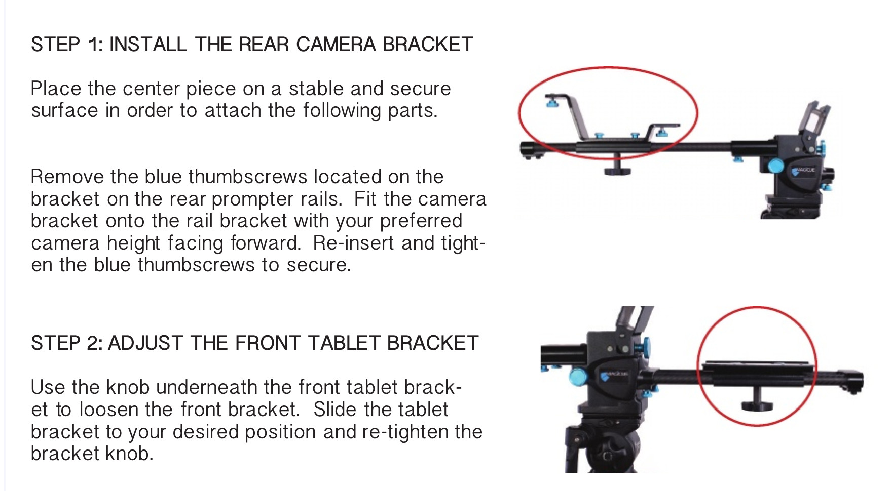 iPad Teleprompter  Rental - Assembly Instructions 1