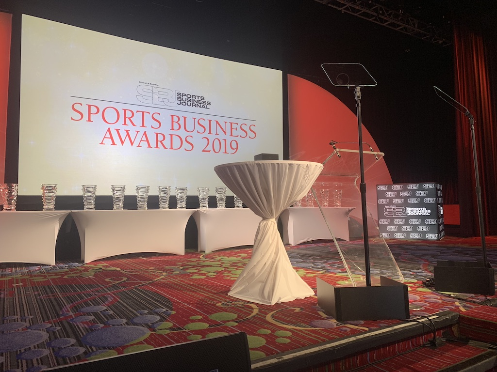 Presidential Teleprompter in Sports Business Awards Events