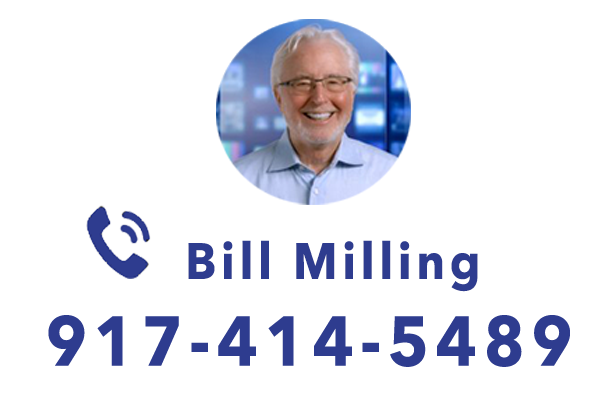 Picture of Bill milling in a circle. phone icon, phone number 917-414-5489