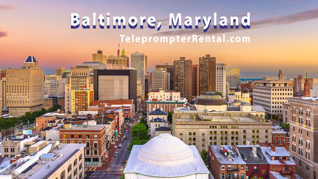 Baltimore, Maryland-Teleprompter Rental