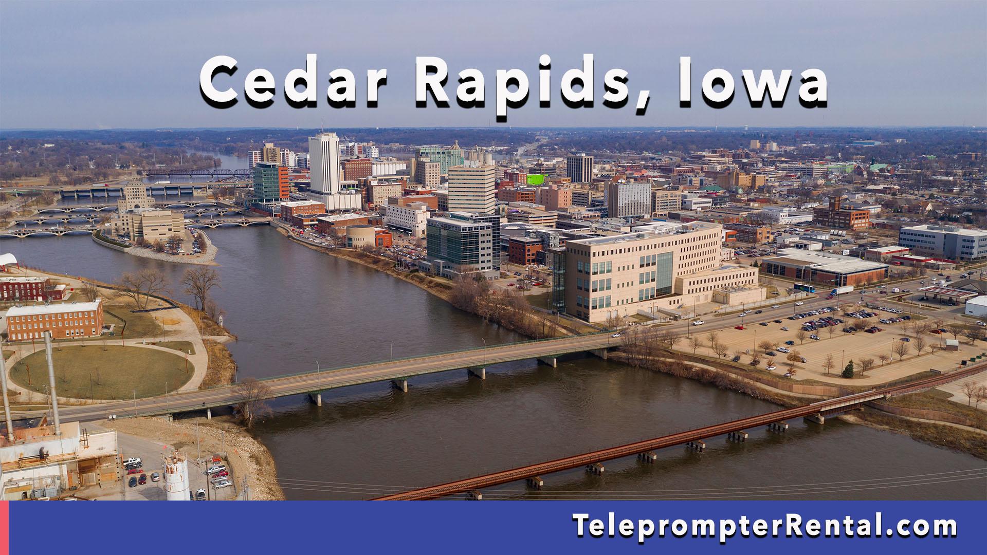Cedar Rapids, Iowa - Teleprompter Rental