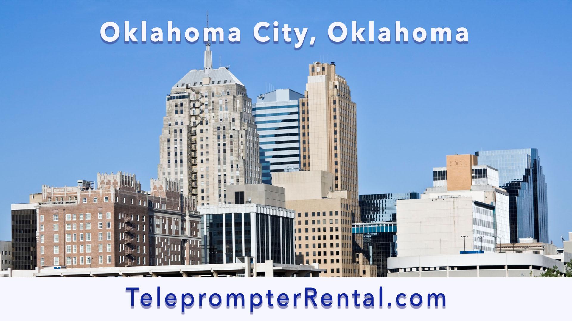 Oklahoma City, Oklahoma - Teleprompter Rental
