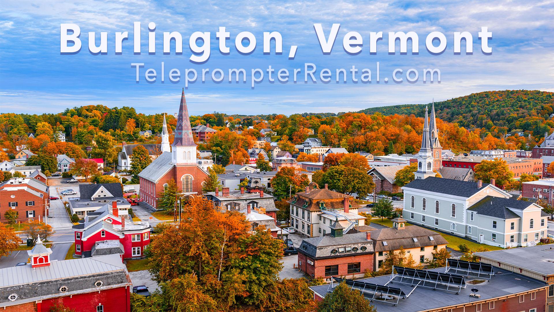 Burlington, Vermont - Teleprompter Rental
