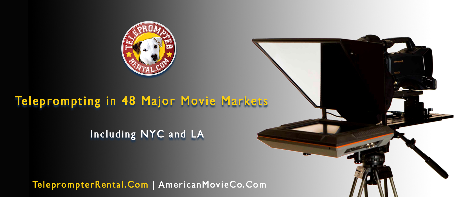 Teleprompting in 48 Major Movie Markets