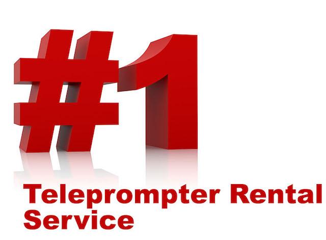 #1 Teleprompter Rental Service